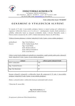 EXEKUROSKÁ KOMORA ČR