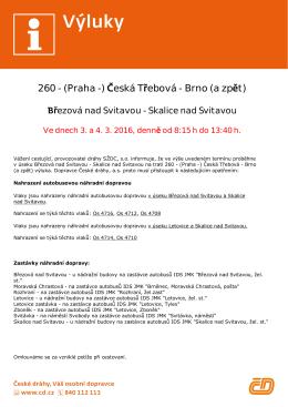 260 - (Praha -) )eská TÚebová - Brno (a zp®t)