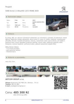 Stáhnout detail vozu v PDF