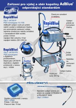 RAPID BLUE leták - PROFO HK, a.s.