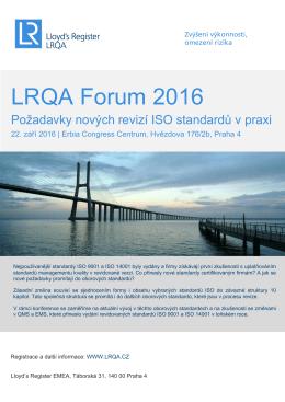 LRQA Forum 2016