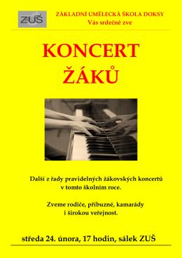 Koncert žáků ZUŠ Doksy 24.2.2016