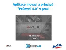 """Aplikace inovací a principů """"Průmysl 4.0"""" v praxi"""