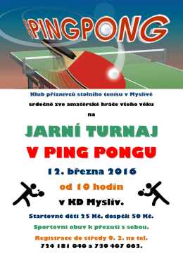 jarní turnaj v ping pongu