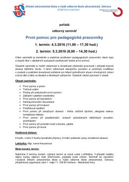Podrobné informace - SZŠ a VOŠZ Ostrava