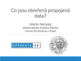 Co jsou otevřená propojená data