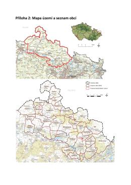Příloha 2: Mapa území a seznam obcí