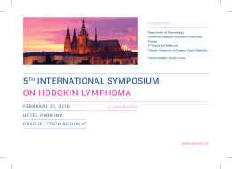 5TH INTERNATIONAL SYMPOSIUM ON HODGKIN LYMPHOMA