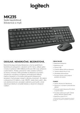 Sada bezdrátové klávesnice a myši