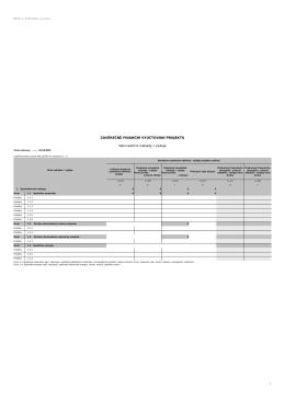 Závěrečné vyúčtování projektu - Neinvestiční náklady/výdaje