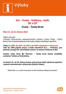 Český Brod - České dráhy, as