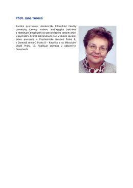 PhDr. Jana Torová