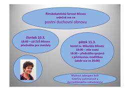 postní duchovní obnovu