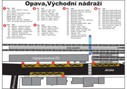Schéma terminálu Opava, Východní nádraží
