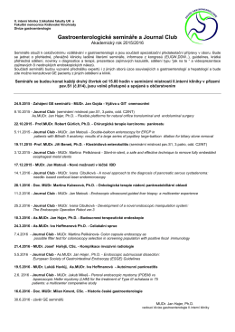 Gastroenterologické semináře a Journal Club
