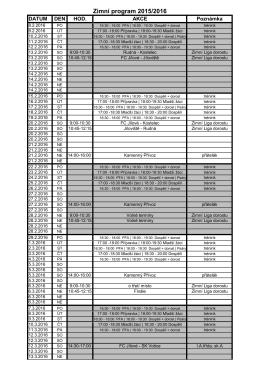 Zimní program 2016