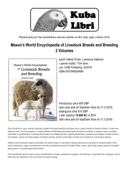 Mason`s World Encyclopedia of Livestock Breeds