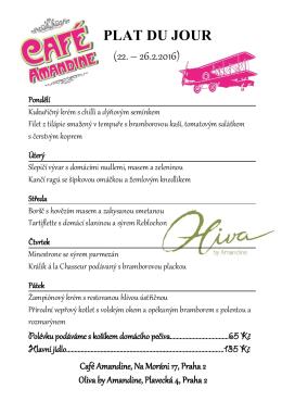 PLAT DU JOUR - Café Amandine