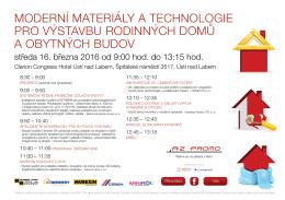 moderní materiály a technologie pro výstavbu rodinných