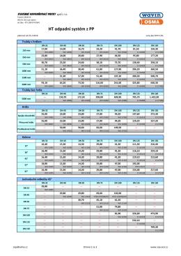 Ceník HT - SOP-ACO, Stavební odvodňovací prvky spol. s ro