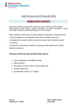 Ambulance bolesti