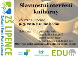 Slavnostní otevření knihárny