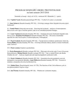 Program seminářů .