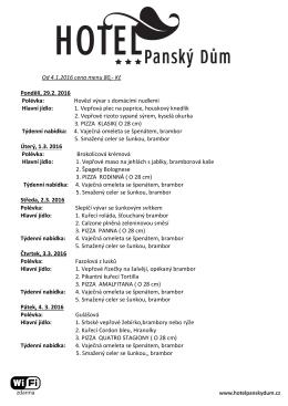 Aktuální menu