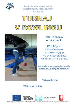 Turnaj v bowlingu - Integrační centrum pro cizince Hradec Králové