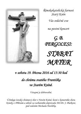 stabat mater - Římskokatolická farnost Starý Knín