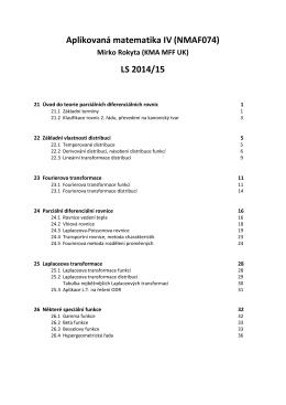 Aplikovaná matematika IV (NMAF074) LS 2014/15
