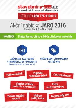 365 / akce jaro 2016 - Stavebniny