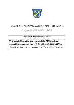 (průkaz energetické náročnosti budov) dle zákona č. 406