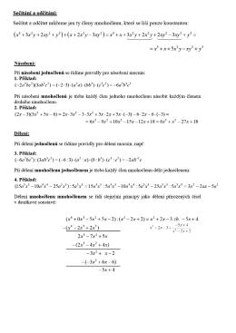 Operace s výrazy_vzorové příklady, cvičení - Mabichek