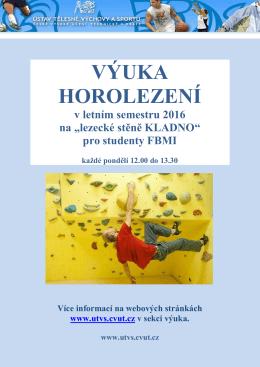 Neváhejte a pojďte si zasportovat na UTVS ČVUT – nejen studenti