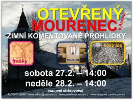 OTEVŘENÝ ZIMNÍ KOMENTOVANÉ PROHLÍDKY sobota 27.2. – 14