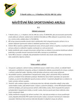 TJ Baník Lužice | Návštěvní řád sportovního areálu