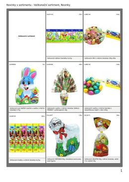 Novinky v sortimentu - Velikonoční sortiment, Novinky