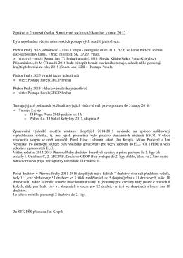 Zpráva o činnosti úseku Sportovně technické komise v roce 2015