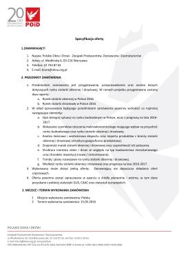 Szczegóły oferty - Związek Polskie Okna i Drzwi