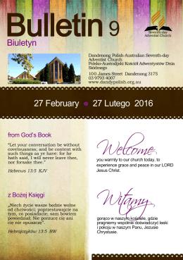 Biuletyn 27 February 27 Lutego 2016