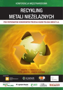Recykling metali nieżelaznych 2016 A4