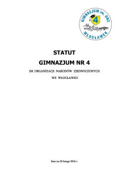 Statut gimnazjum - Gimnazjum nr 4 im.ONZ.