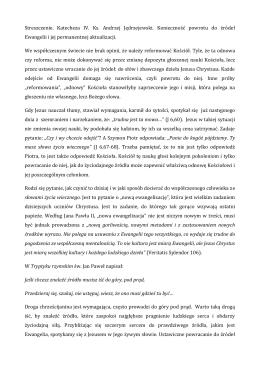 Streszczenie. Katecheza IV. Ks. Andrzej Jędrzejewski. Konieczność