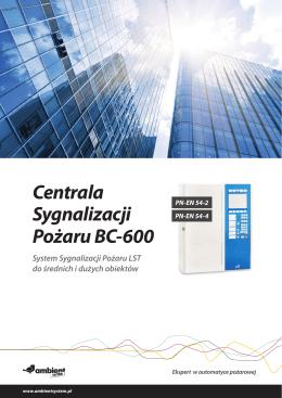 Centrala Sygnalizacji Pożaru BC-600