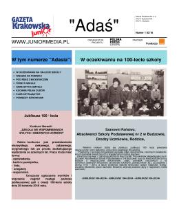 """""""Adaś"""" - Junior Media"""