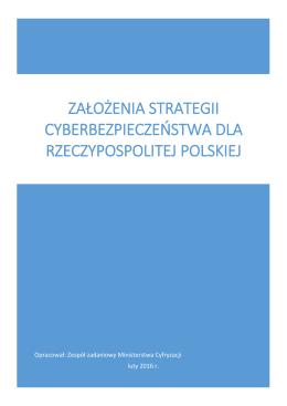 Założenia strategii cyberbezpieczeństwa