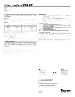 Kontrole ewerolimusu (EWER) QMS