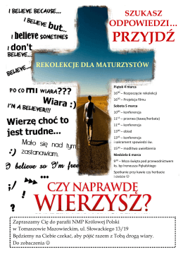 przyjdź - Parafia NMP Królowej Polski w Tomaszowie Mazowieckim