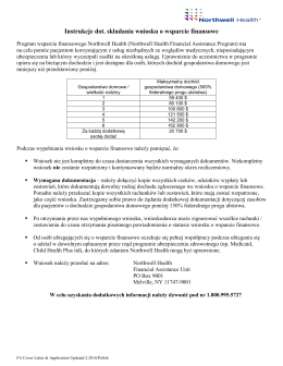 Instrukcje dot. składania wniosku o wsparcie finansowe